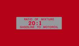 Bridgestone Oil/Gas Ratio decal