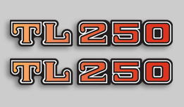 1975 Honda TL250 side decals