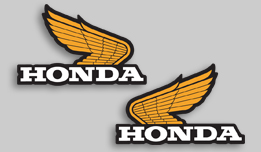 1975 Honda TL250 gas tank decals