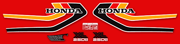 1978 Honda XL250S decal set