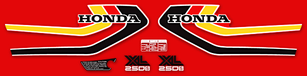1979 Honda XL250S decal set