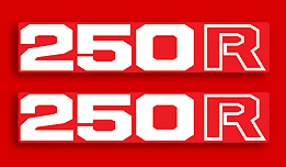 1982-83 Honda XL250R side panel decals