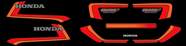 1982 Honda CB900F complete decal set