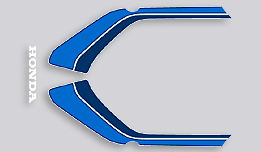 1982 Honda CB900F tail section decals