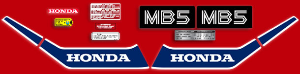 1982 Honda MB5 complete decal set
