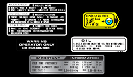 1982 Honda MB5 Warning & Service Labels