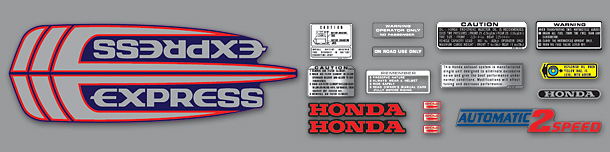 1983 Honda Express decal set
