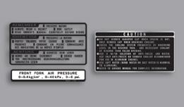 Honda VF1000 Interceptor warning decals
