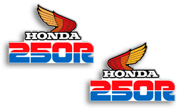 1986 Honda XL250R tank decals