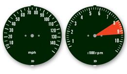1975 750 K5 gauges