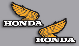 1976 Honda TL250 gas tank decals