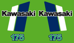 1980-82 Kawasaki KDX175 Decal Set