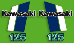 1980-1981 Kawasaki KX125 decal set