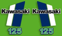 1980-1981 Kawasaki KX125 decal set