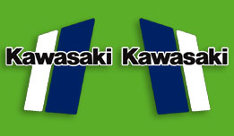 1980-1981 Kawasaki KX125 fuel tank decals
