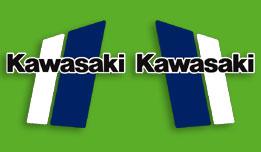 1980-1981 Kawasaki KX125 fuel tank decals