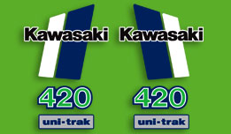1981 Kawasaki KX420 complete decal set