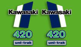 1981 Kawasaki KX420 complete decal set