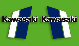 1981 Kawasaki KX420 fuel tank decals