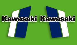 1981 Kawasaki KX420 fuel tank decals