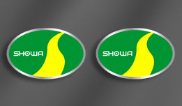 1980 KX80 Showa Shock Absorber Decals