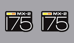 can am 175 mx-2 side decals