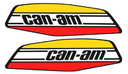 Can-Am Gas Tank Decals MX-2