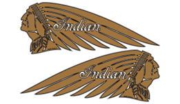 Indian Chief decals (gold)
