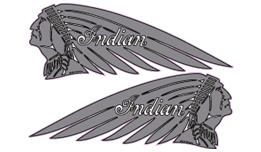 Indian Chief decals (silver)