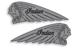 Indian tank decals (silver)