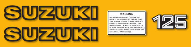 Decals For Classic 1979 80 Suzuki TS125 TS185 Series And